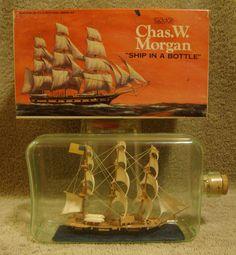 1970's Addar Ship in a Bottle Plastic Model Kit Built    Charles W. Morgan  #Addar