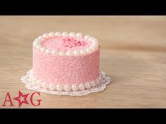 DIY Cardboard Cake Decorating Craft | American Girl - YouTube