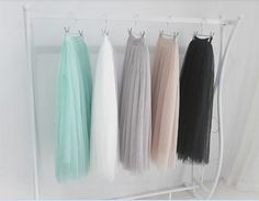 Ivory/White/Black/Gray/Blue Tulle SkirtMade to fit by divinleah, $39.99.....NEED.