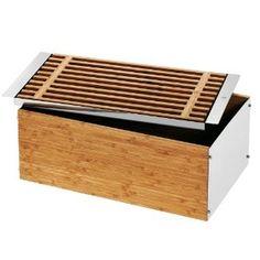 stainless bamboo breadbox
