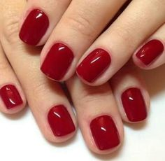 Blood red nails.