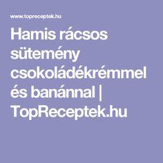 Hamis rácsos sütemény csokoládékrémmel és banánnal | TopReceptek.hu