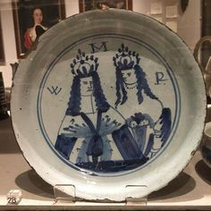 English Delft plate at Mark Hearld's 'The Lumber Room: Unimagined Treasures' exhibition at York Art Gallery