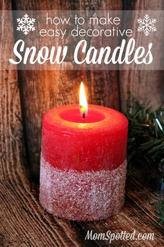 How to Make Easy Decorative Snow Candles {Plus, DIY Mason Jar SnowSnow Kissed Candle Holders} #FunCraftsWithMom