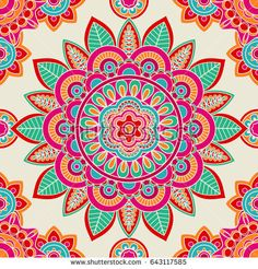 Ethnic boho hippie seamless pattern. illustration