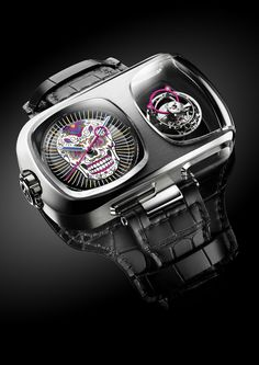 The Angelus U10 Tourbillon Calavera Counts Down To Dia de los Muertos