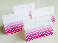 Chevron, chevron everywhere! Love this geometric pattern for everything from invites to table runners!