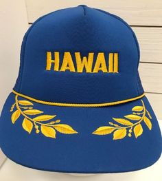 fb5d4907595 Details about Aloha Pineapple Black Captain Gold Leaf Hawaii Snapback Mesh Trucker  Hat Cap