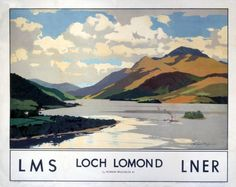 Norman Wilkinson 1930.  Apparently the boat is regular tourist trip round the loch (discontinued in the 1920s - according to Darney Fine Art).