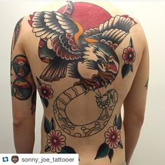 """Awesome back piece by Sonny Joe! To get booked in email """"skinsandneedles@live.co.uk"""" !"""