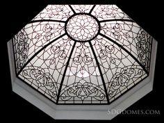 Octagon #leadedglassdome Designed, built and Installed by http://solariumglassdomes.com/ #traditional #interior