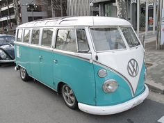 Volkswagen Bus - Took my driving test at 16 in this. Stick shift on the floor.  I knew I could drive anything after this.