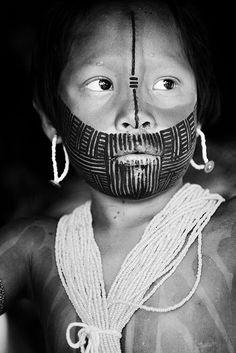 Kayapo child, body painting