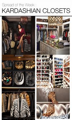 Kim Kardashian House Closet Go inside Kim Kardashian's Closet Dressing Room Closet, Dressing Rooms, Closet Vanity, Walk In Closet, Closet Tour, Closet Space, Celebrity Houses, Celebrity Closets, Dream Closets