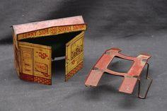 Vintage Antique Marx LITHO TIN Sunny Side Service Station and Car Lift Parts…