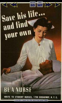 WW11 poster of nurse***