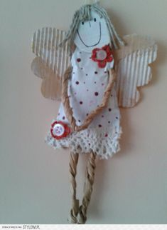 sielsko Christmas Angel Crafts, Holiday Crafts For Kids, Christmas Art, Diy Christmas Ornaments, Christmas Decorations, Atelier D Art, Handmade Angels, Upcycled Crafts, Paper Dolls