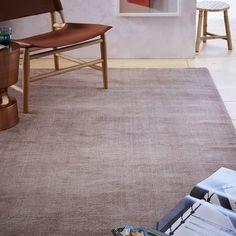 Hand-loomed Shine Wool Rug, 8'x10', Dusty Blush