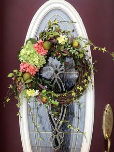 Spring Wreath Easter Wreath Grapevine Door by AnExtraordinaryGift, $90.00