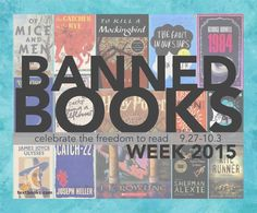 PIN if you've read a banned book! Banned Books Week 2015 // Celebrating the Freedom to Read 9.27.15-10.03.15 - Banned & Challenged Books #bannedbooks #bannedbooksweek