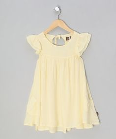 Take a look at this Pale Yellow Ruffle Dress - Infant 63e1640ce
