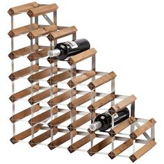 Traditional Wine Rack Co. Dark Wood Wine Rack, 27 Bottle