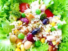 「もち玄米でヘルシーライスレシピ」お腹のもちが良くてカロリーが低い玄米でダイエットには、いい食材です。【楽天レシピ】