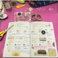 Um pedacinho da semana da @vanessataconelli! Um capricho só!! 😍😍 . . . . #planner #planneracraft #plannerdecorating #planneraddict #plannergirl #acraft #papelaria