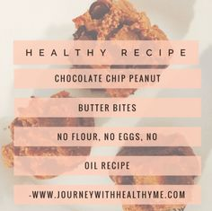 Chocolate Chip Peanut Butter Bites – Journey With Healthy Me