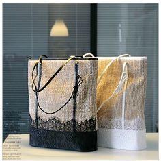 lace beach bag