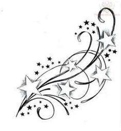 Star swirl - this is actually a tattoo, but I'd like to replicate it with stamps, or stamps and punches.