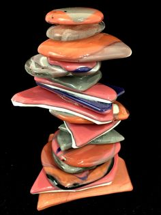 One -of-a-kind cast glass Rocky Mountain Cairn sculpture by Heather Cuell   Effusion Art Gallery + Glass Studio, Invermere BC Contemporary Decor, Modern Decor, Kiln Formed Glass, Glass Bar, Luxury Cabin, Cast Glass, Glass Furniture, Canadian Art, Luxury Decor