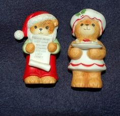 Lucy and Me Enesco Santa and Mrs. Claus Bears