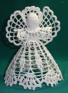 Beading Patterns Free, Lace Patterns, Crochet Patterns, Crochet Angel Pattern, Crochet Angels, Crochet Ornaments, Beaded Ornaments, Christmas Angel Ornaments, Christmas Crafts