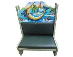 Booth Golfo de México.  Descripción: Diseño: Golfo de México Color: Diseño Asiento: Vinil verde  2 Personas