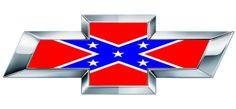 Chevy Rebel Flag   Chevy BowTie Rebel Flag Emblem Overlay Wrap