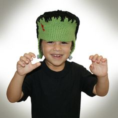 Crocheted Franken Beanie for sizes baby to large adult. Let us download the PDF for you, and receive credit toward your next Sheepish Reward coupon!