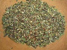 How to Make Allergy Tea: Herbal Treatment of Seasonal Allergies or Hay Fever - dry & grind herbs or chop in food processor or coffee grinder.  Steep 1-2 teasp.  herbs in hot water for 15 minutes & enjoy.       2 parts each nettle & peppermint & 1 part each red clover & echinacea