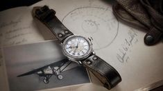 Longines Launches The Lindbergh Hour Angle Watch Anniversary › WatchTime - USA's Watch Magazine Charles Lindbergh, Skin Diver, Custom Design Shoes, Custom Boots, Retro Look, Leather Accessories, Watch Brands, Vintage Watches, Chronograph