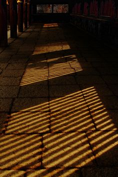 brown, Long corridor at Kitano Tenmangu shrine, Kyoto, Japan Japanese Things, Japanese Art, All About Japan, Wakayama, Go To Japan, Shiga, Japanese Architecture, Rising Sun, Light And Shadow