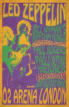 Led Zeppelin, Bill Wyman's Rhythm Kings, Paul Rodgers, Foreigner - London