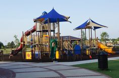 This is the playground at Evans Towne Center Park