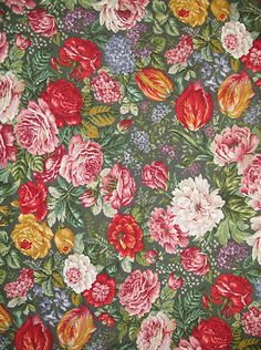 4 5 yds Bright Large Floral Upholstery Fabric Ratti Italy Belvedere Celesia   eBay