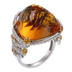 Sweet as #honey. #ZorabCreation #gemstone #ring #jewelry #diamonds #luxury #luxurylife #fashion #style #beautiful #amazing #lovely #finejewelry #orange #pretty #awesome #shinebright #ring #design #amazing