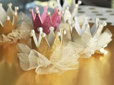 Event Blossom offers these Glitter Crown Clips and other unique and creative wedding favors and special event favors among its trendy product line.