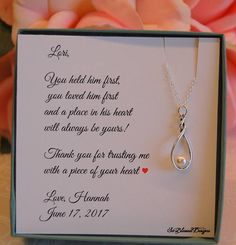 Mother in law wedding gift Mother in law gift Mother of the Groom future mother in law gift wedding gifts mother of the groom gift ideas $29