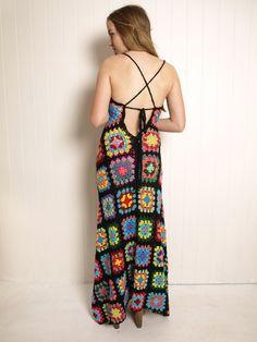 Kitsch Bitsch crocheted granny square dress