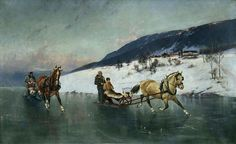 Sledge Ride on the Ice by Axel Hjalmar Ender