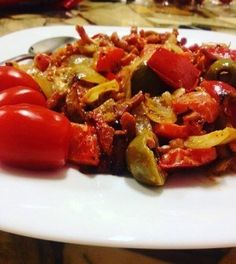 Koolhydraatarm Wok Recept met Spekjes Healty Lunches, Healty Dinner, Go For It, Atkins, Paleo, Low Carb, Menu, Tasty, Stuffed Peppers
