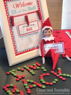 Elf on the Shelf ideas -Clean & Love the naughty nice tags & the breakfast she did is Adorable!!!!!